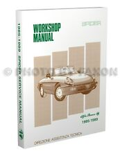 Alfa Romeo Spider Shop Manual 1985 1986 1987 1988 1989 Veloce Graduate Quadrifog