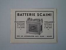 advertising Pubblicità 1934 BATTERIE SCAINI