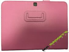 Foldable Leather Case Cover for Samsung Galaxy Tab 4 10.1 Inch Tablet - Pink