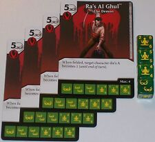 4 x RA'S AL GHUL: THE DEMON 30 Green Arrow and The Flash Dice Masters