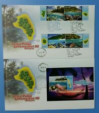 Islands and Beaches Series 3 complete First Day Cover FDC Malaysia 2015