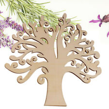Creative Wooden Craft Tree Shape Blank Family Tree Wedding Guestbook DIY Crafts