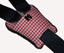 Red Gingham Buckle Cover - Car Seat - Pram - Highchair Harness Seat Belt Pad