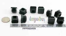 "24 Square Plastic Finishing Plugs Fit 3/4"" Outside Dimension Tube - Ribbed Plug"