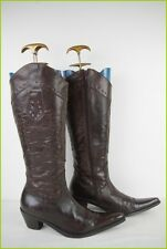 Bottes WE DO Santiags Cuir Marron Doublé Cuir T 38 TBE