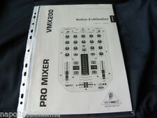 Behringer VMX 200    User's Manual Istruzioni Mode D'emploi Owner's Manual