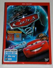 Disney Pixar CARS 2 (Blu-ray/DVD, 2011, 2-Disc Set, DVD case) NEW