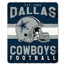 "New Northwest NFL Dallas Cowboys Large Soft Fleece Throw Blanket 50"" X 60"""