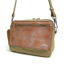 New YOSHIDA PORTER FIELD SHOULDER POUCH Beige EMS tracking From Japan