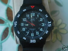 Nice New Q&Q by Citizen Military Style Men's Watch w/Black Dial