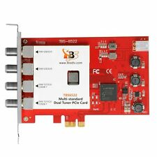 TBS6522 Dual / Twin Tuner PCI-e TV Tuner DVB-S DVB-T DVB-C Full HD 1080p & SD