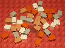Lego 40 New Bricks 3005 1x1 - Shades of Brown / Tan - Parts & Pieces