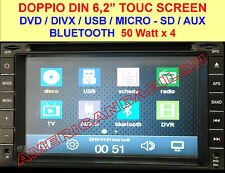 Doppio 2 Din Car DVD Player Lettore CD MP3 Bluetooth TV USB SD Autoradio+Camera