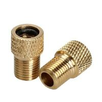 BRASS ADAPTOR PRESTA TO SCHRADER BICYCLE VALVE CONVERTER BIKE PUMP CONNECTOR