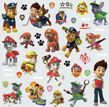 PAW PATROL wall stickers 37 stickups Ryder Chase Marshall Rubble scrapbook dogs