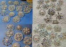 Wholesale Job Lot - 6 x Assorted Faux Pearl & Diamante Brooches  (L245)