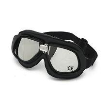 Bandit Classic Goggle, Miroir Lentille, moto lunettes, CUIR, Black, pour jethelme