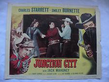 Junction City Charles Starrett, Smiley Burnette 1952 lobby card#3 movie 52/276