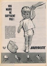 PUBLICITE ADVERTISING 115  1961  BEVERLY chaussures bébé BABYBOTTE  MURRAY SMITH