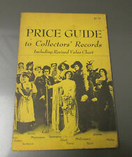 1967 PRICE GUIDE To Collectors' Records by Julian Morton Moses 32 pgs VG+