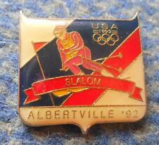 NOC USA OLYMPIC ALBERTVILLE 1992 SKI SLALOM  PIN BADGE
