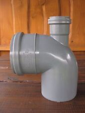 110mm Soil Pipe Elbow Bend 90° Single Socket with 50 mm Inlet, Sewer Waste, Grey