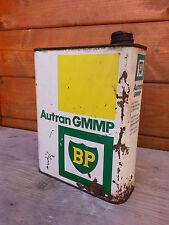 Ancien bidon d'huile BP autran, vide déco de garage vintage.