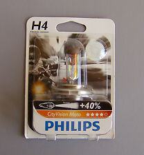 PHILIPS H4 CityVision Moto,Vibrationsfest, Strahl performance +40% 12342CTVBW