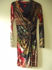 Lovely Fitted Patterned Bodycon Dress by designer DESIGUAL size M (10-12)