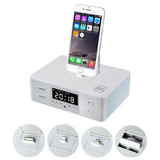 NFC Wireless Remote Control Alarm Clock Bluetooth Charger Dock Speaker iPhone6