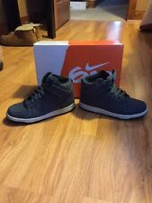 Nike 6.0 Wmns Dunk High Size 6, Very Nice Cond, Worn Once, Suede Grey Light Blue