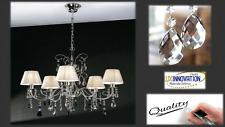 Lampadario moderno contemporaneo con coppette in tessuto lampadario cristallo