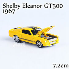1:64 Yellow Ford Mustang shelby Eleanor GT500 1967 Diecast Model 1/64 By Yatming