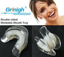 2 DUAL MOLDABLE TOOTH TEETH WHITENING QUALITY TRAY with SOFT SILICONE MOUTH MOLD