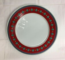 """HUTSCHENREUTHER """"CAMAO ROSSO"""" RED SERVICE PLATE 12 5/8""""  PORCELAIN NEW GERMANY"""