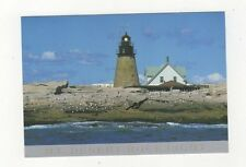 Mount Desert Rock Lighthouse Maine Postcard USA 406a ^