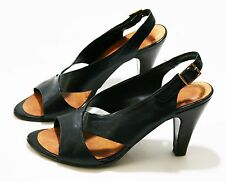 CHIE MIHARA SHOES BLACK LEATHER VERA SLINGBACK PUMP HIGH HEEL SANDALS 39 $350