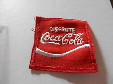"COCA-COLA ""DISFRUTE""  CLOTHING PATCH, PREOWNED, 2.5"" SQUARE"