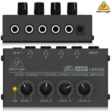 Behringer HA400 MICROAMP Compact 4ch Headphone Amplifier l USA Authorized Dealer