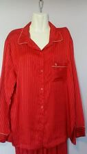 Victoria's Secret satin pajama Set Red Striped the afterhours  Red Striped Large