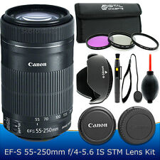 Canon EF-S 55-250mm F4-5.6 IS STM Lens Kit for Canon T6i T5i T4i T3i 60D 70D SL1