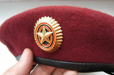Genuine NEW ALL SIZES Russian Army Officer Specnaz Red Beret Military Maroon