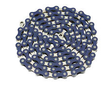 YBN Chain 1/2 x 1/8 x 112L 1/Speed Blue/Chrome BMX Freestyle Yaban Bike (123146)