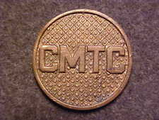 RARE US WW1 BRONZE CMTC CITIZENS MILITARY TRAINING CAMP COLLAR DISK