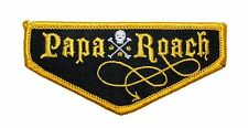 """""""Papa Roach"""" Band Name Badge Rock Metal Music Merchandise Iron On Applique Patch"""