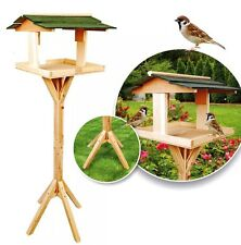 Standing Heavy Duty Traditional Wooden Garden Bird Feeding Table Bird House UK !