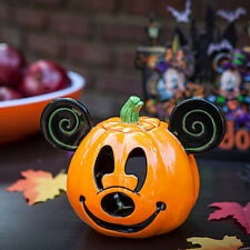 DISNEY Mickey Mouse PUMPKIN Jack O'Lantern CANDLE HOLDER Halloween Decor