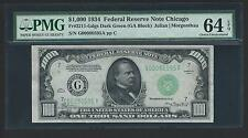 1934 $1000 One Thousand Dollar Bill Currency Cash Note Money PMG CH CU 64 EPQ