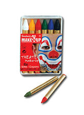 MULTI COLOURS BELA GREASEPAINT 6 CRAYONS HALLOWEEN FANCY DRESS PARTY MAKE UP