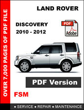 LAND ROVER DISCOVERY 4 2010 - 2012 V6 V8 FACTORY SERVICE REPAIR WORKSHOP MANUAL